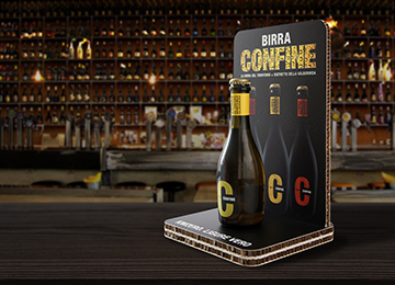 Design e packaging per i prodotti Birra Confine